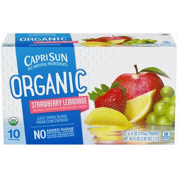 Capri Sun Organic Strawberry Lemonade Ready-to-Drink Soft Drink