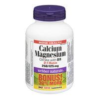 Webber Naturals Calcium Magnesium Citrate with Vitamin D Bonus Size