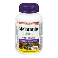 Webber Naturals Melatonin Chewable, 3 mg, 90 Chewable Tablets
