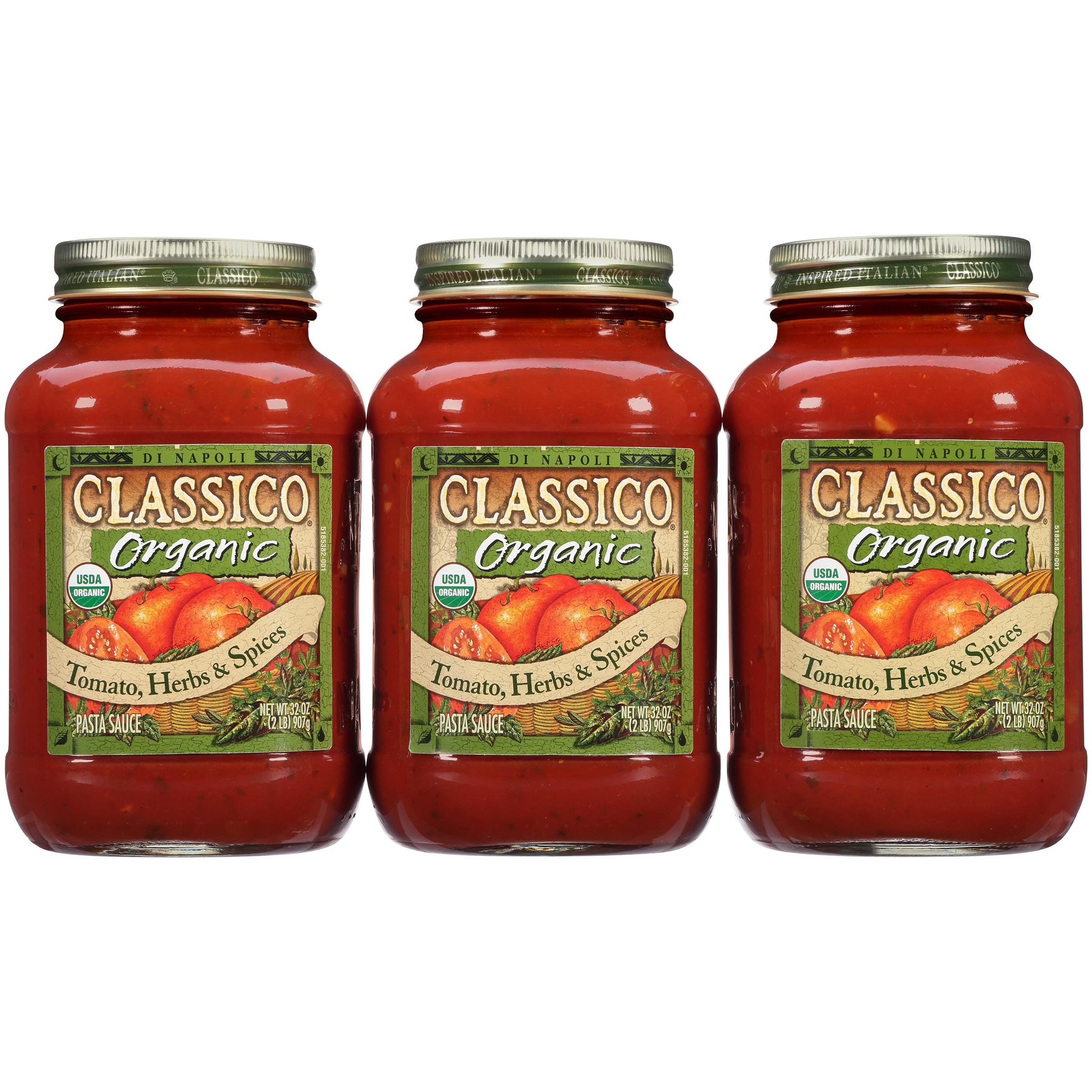 Classico Organic Tomato Herbs and Spices Pasta Sauce