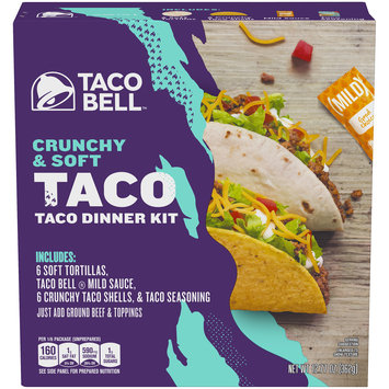 Taco Bell Crunchy & Soft Taco Dinner Kit
