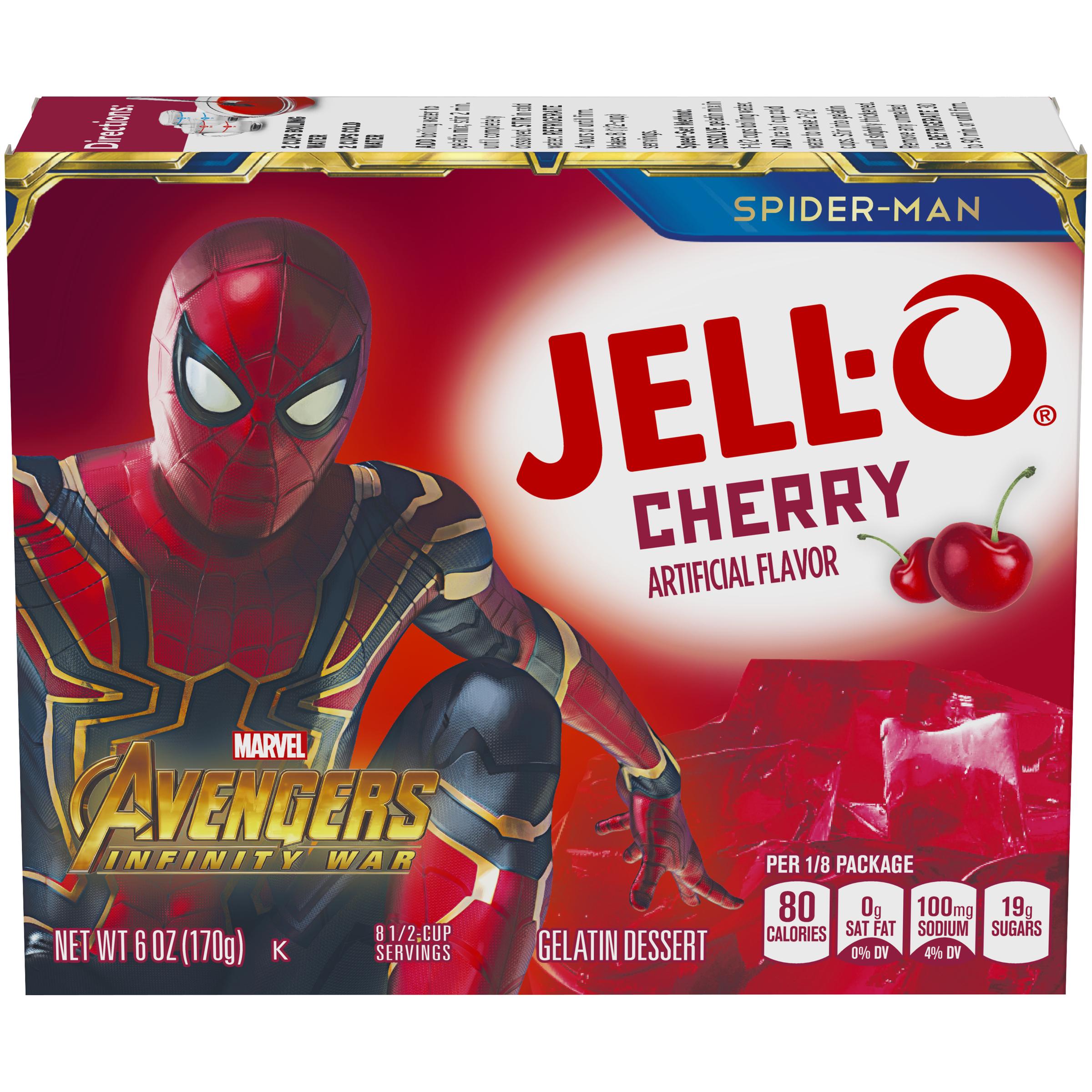 Jell-O Cherry Instant Powdered Gelatin Dessert