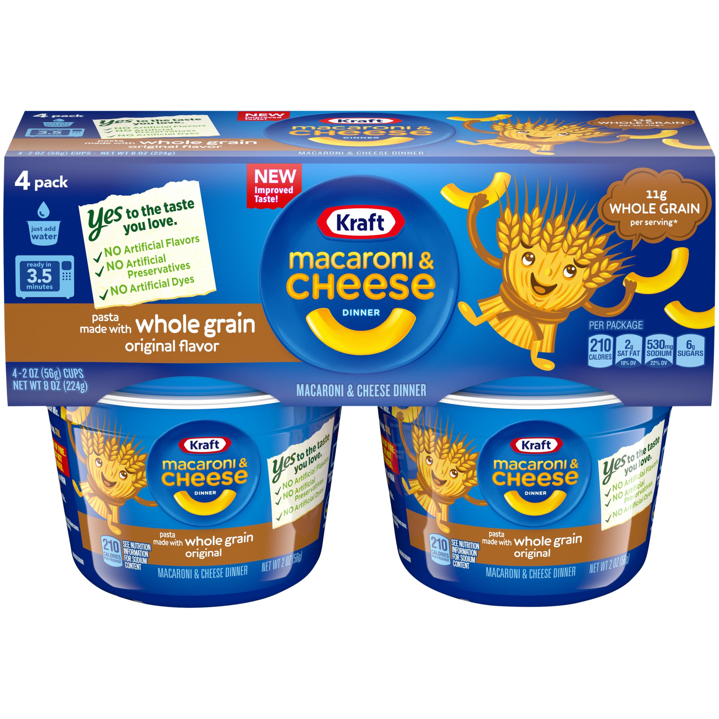 Kraft Easy Mac Whole Grain Original Flavor Macaroni & Cheese Dinner