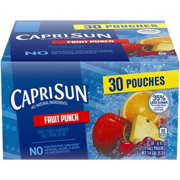 Capri Sun 25% Less Sugar Tropical Punch Flavored Juice Pouches