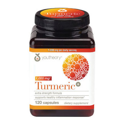 Youtheory Turmeric 1000mg Extra Strength Capsules, 120 Ct
