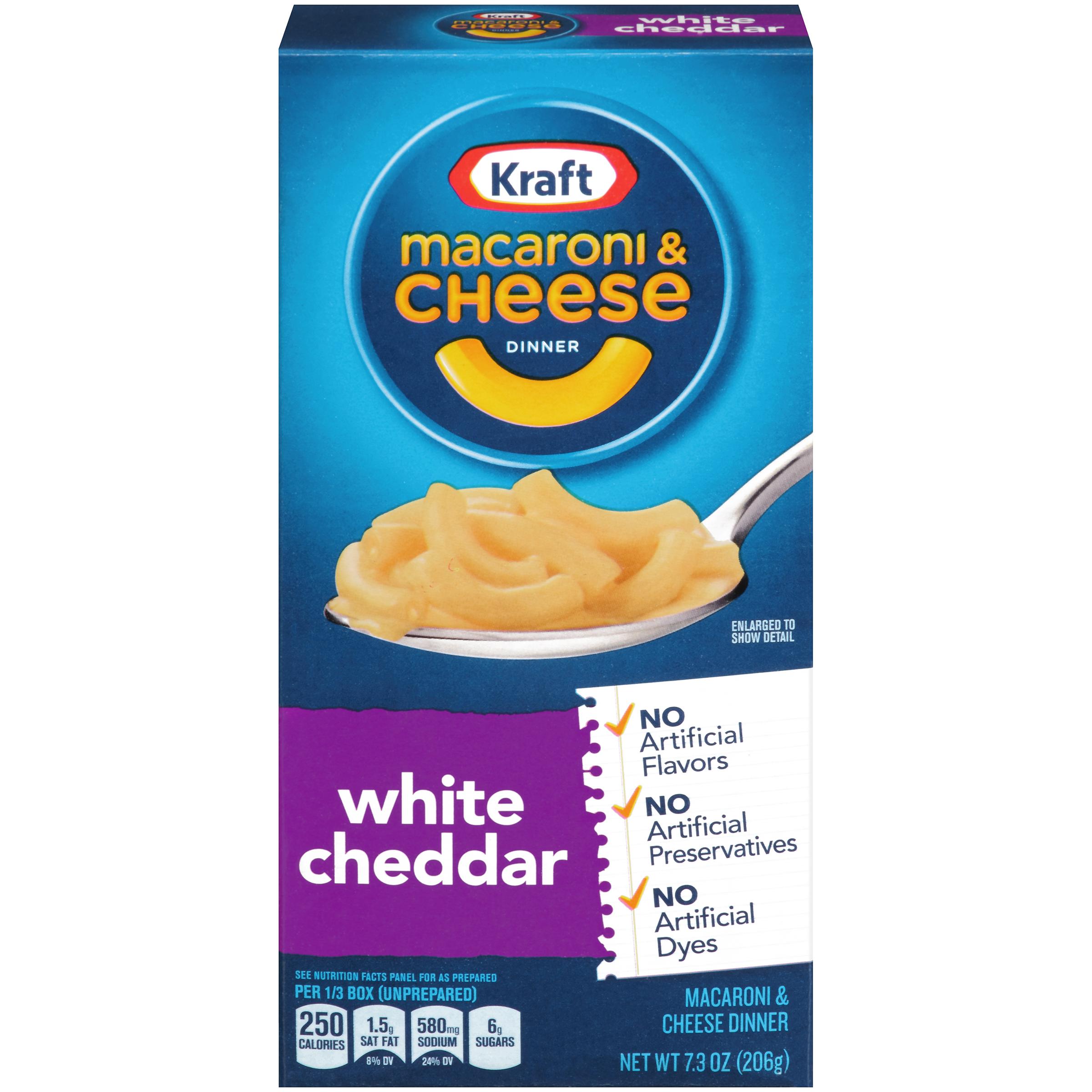 Kraft White Cheddar Macaroni & Cheese Dinner