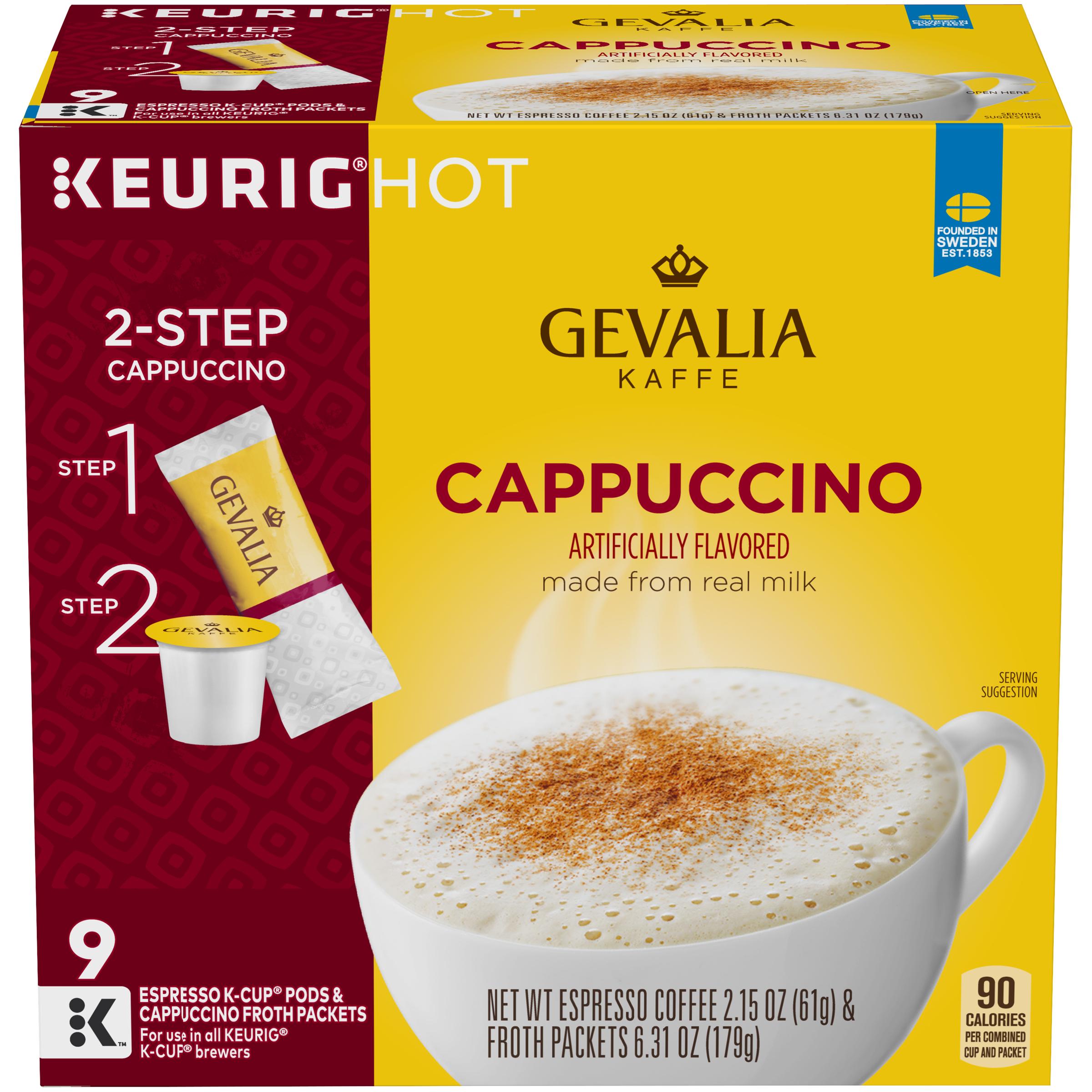 Gevalia Cappuccino Espresso Coffee K-Cup Pods