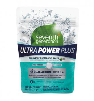 Seventh Generation Fresh Citrus Ultra Power Plus™ Dishwasher Detergent Packs