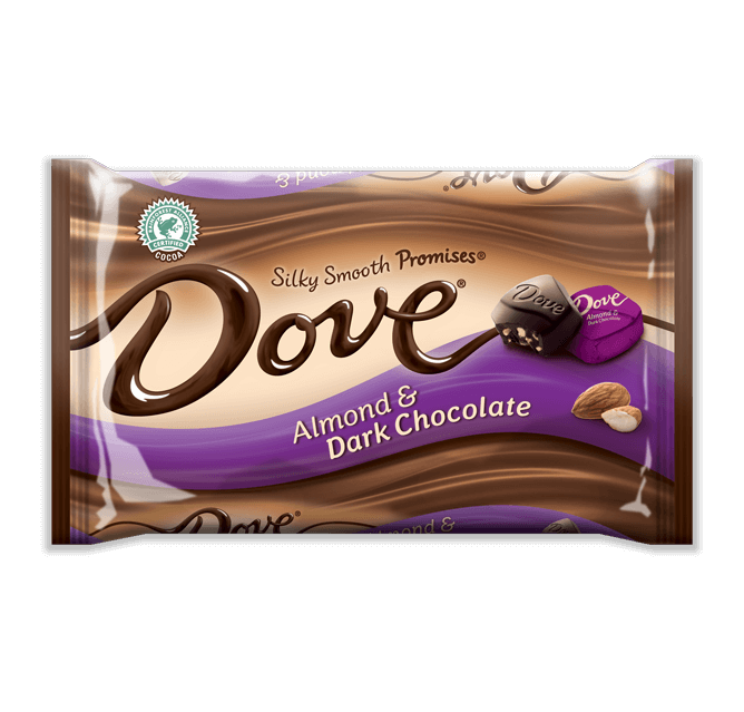 Dove Chocolate Promises Silky Smooth Almond Dark Chocolate