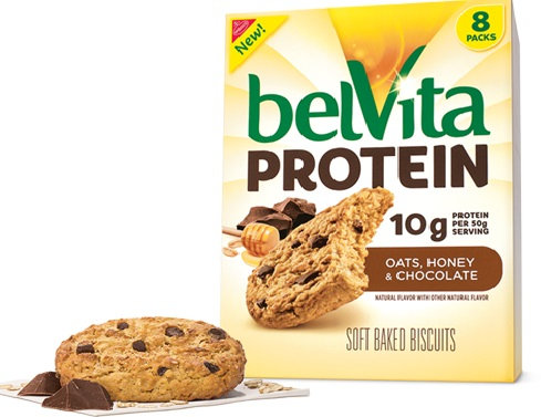 Nabisco belvita Soft Baked Biscuits Protein Oats Honey & Chocolate