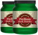 Piping Rock Psyllium Husk Seed Powder 2 Bottles x 24 oz (681 g) Powder