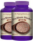Piping Rock Psyllium Husks 510mg 2 Bottles x 250 Capsules