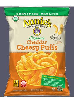 Annie's® Organic Cheddar Cheesy Puffs