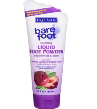 Freeman Bare Foot Liquid Foot Powder Peppermint and Pulm