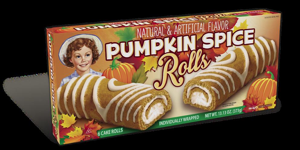 Little Debbie® Pumpkin Spice Cake Rolls