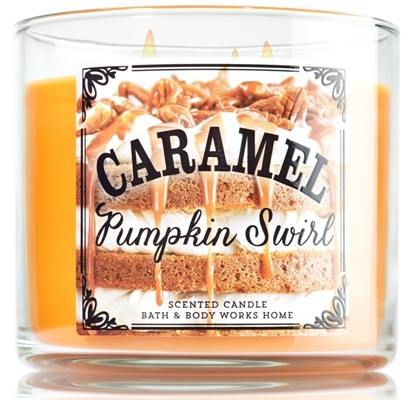 Bath & Body Works® CARAMEL PUMPKIN SWIRL 3-Wick Candle