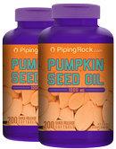 Piping Rock Pumpkin Seed Oil 1000 mg 2 Bottles x 200 Softgels