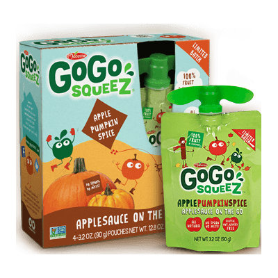 GoGo SqueeZ Apple Pumpkin Spice Applesauce On The Go