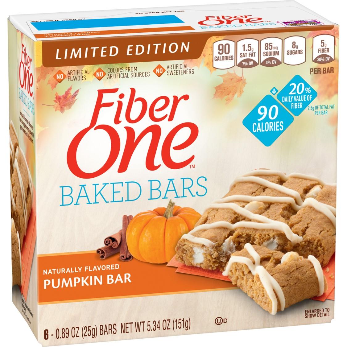 Fiber One 90 Calorie Baked Bar Pumpkin