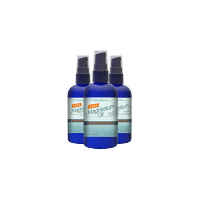 Piping Rock Pure Magnesium Oil (3 Pack) 3 Spray Bottles x 8 fl oz