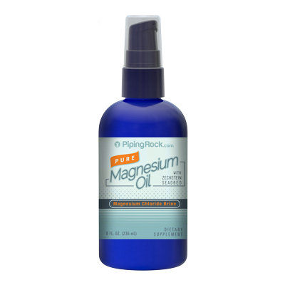 Piping Rock Pure Magnesium Oil 8 fl oz Spray Bottle