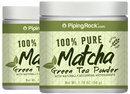 Piping Rock Pure Matcha Tea 2 Jars x 50 Grams (1.76 oz)