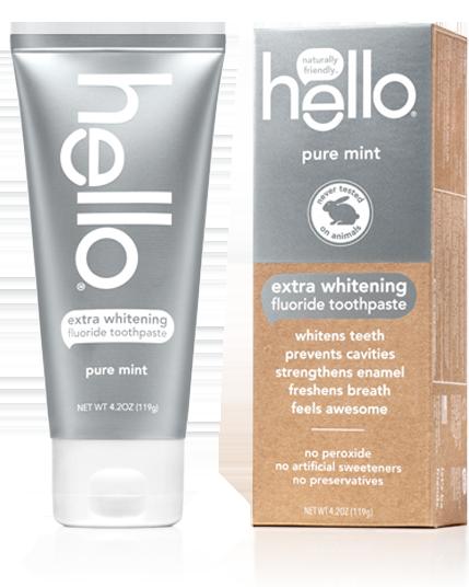 Hello Extra Whitening Fluoride Toothpaste Pure Mint
