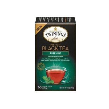 TWININGS® OF London Premium Black Tea Pure Mint Tea Bags