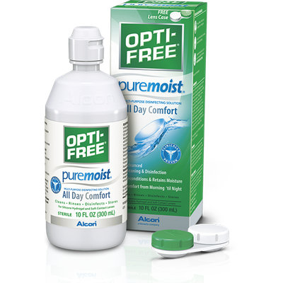 OPTI-FREE® Puremoist®  Multi-Purpose Contact Lens Solution