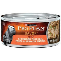 PRO PLAN® SAVOR™ Shredded Chicken, Pasta & Spinach Entree Adult Canned Dog Food