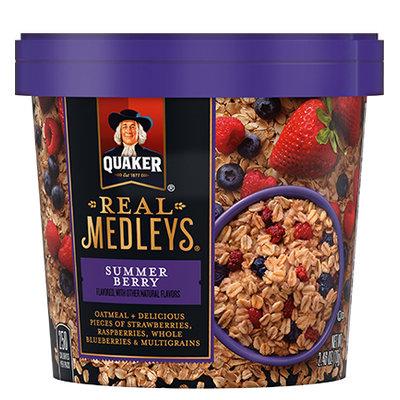 Quaker® Real Medleys Oatmeal Summer Berry