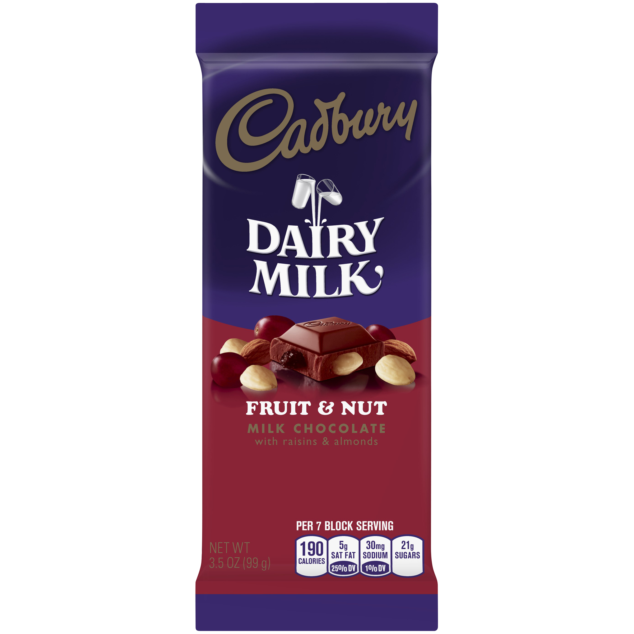 Cadbury Dairy Milk Fruit & Nut Milk Chocolate