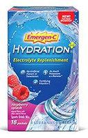 Emergen-C Hydration+ Electrolyte Replenishment Raspberry Splash