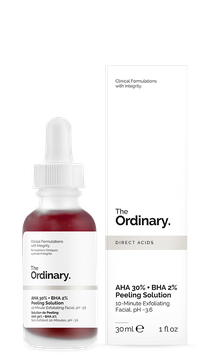 The Ordinary. AHA 30% + BHA 2% Peeling Solution