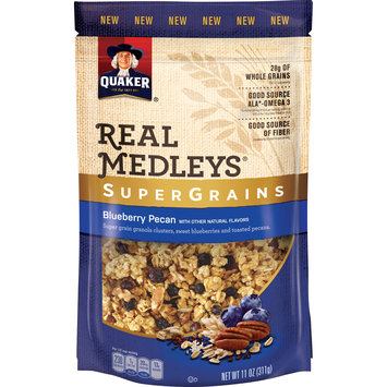 Quaker® Real Medleys Supergrains Granola Blueberry Pecan