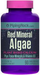 Piping Rock Red Mineral Algae Aquamin Plant Based Calcium 90 Capsules