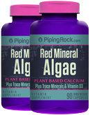 Piping Rock Red Mineral Algae Aquamin Plant Based Calcium 2 Bottles x 90 Capsules