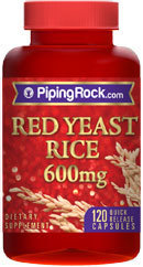 Piping Rock Red Yeast Rice 600mg 120 Capsules