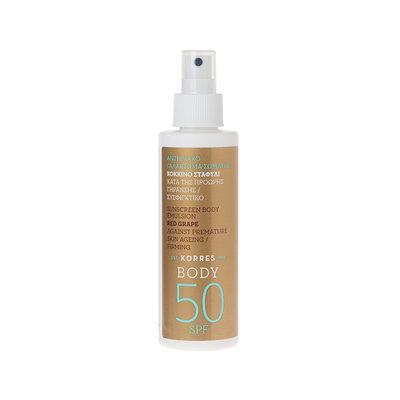 KORRES Red Grape Sunscreen Body Emulsion SPF 50