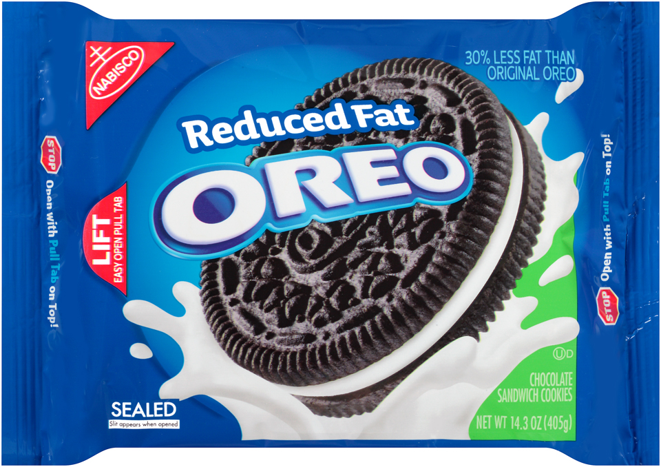 Nabisco Oreo Sandwich Cookies Reduced Fat