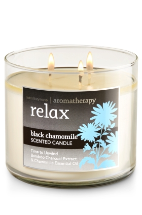 Bath & Body Works Black Chamomile Aromatherapy Relax Candle