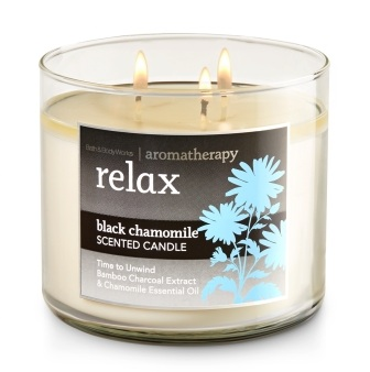 Bath & Body Works® Aromatherapy Relax Black Chamomile 3-Wick Scented Candle