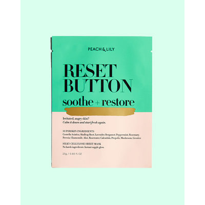 Peach & Lily Reset Button Sheet Mask