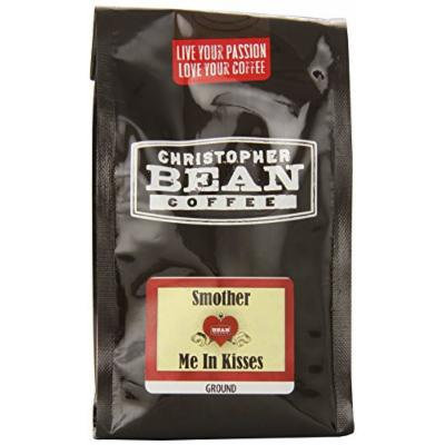 Christopher Bean Coffee Ground Flavored Coffee, Smother Me In Kisses, 12 Ounce