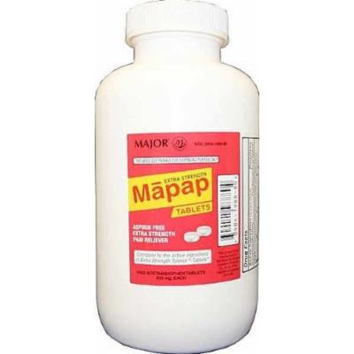 MAPAP Adult Pain Relief, 500mg, 1000ct