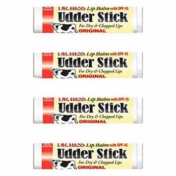 Dr Hess Udder Stick Lip Balm, Vanilla, 4 Count