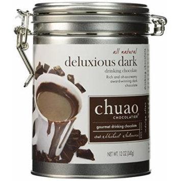 Chuao Gourmet Drinking Chocolate 12 Oz. Tin Can (Deluxious Dark)