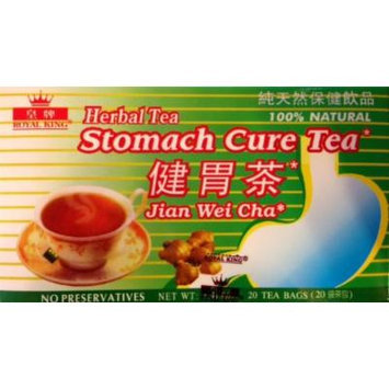 Royal King Stomach Cure Herbal Tea Jian Wei Cha 100% Natural No Preservatives 20 Tea Bags