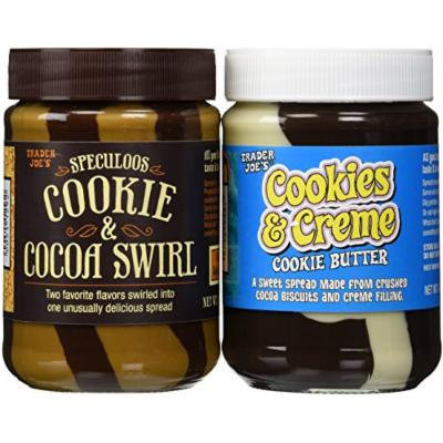 Trader Joe's Variety Pack:Speculoos Cookie & Cocoa Swirl 14.1oz. and Cookies & Creme Cookie Butter 14.1oz.