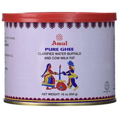 Amul Pure Ghee Clarified Water Buffalo and Cow Milk Fat, 16 Ounce